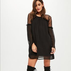 Black Donny Mesh Shift Dress from Missguided